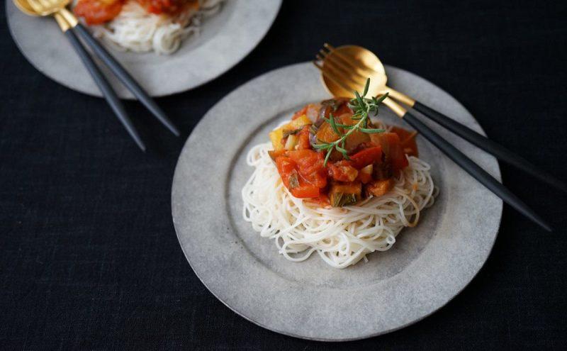 なつめ レシピ「ラタトゥイユでアレンジ素麺」