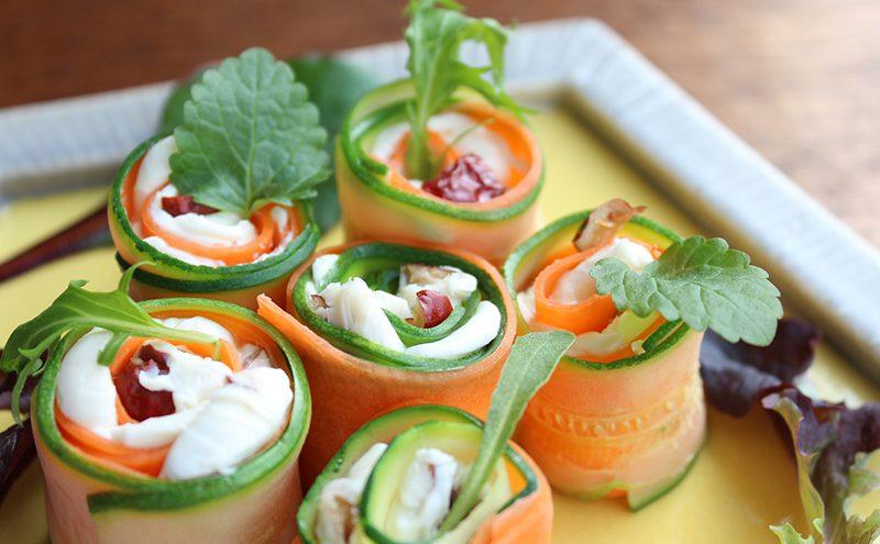 なつめ レシピ「なつめの実を使ったロールサラダ」