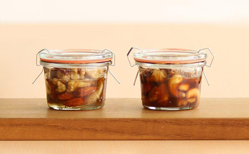 なつめ レシピ「なつめとナッツのハチミツ(メープルシロップ)漬け」