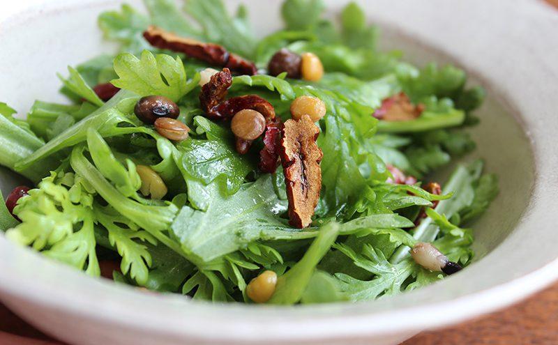 なつめ レシピ「なつめと春菊のサラダ」