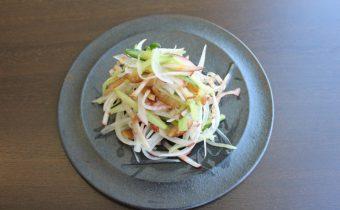 なつめ レシピ「あり合せ野菜のシャキシャキサラダ」