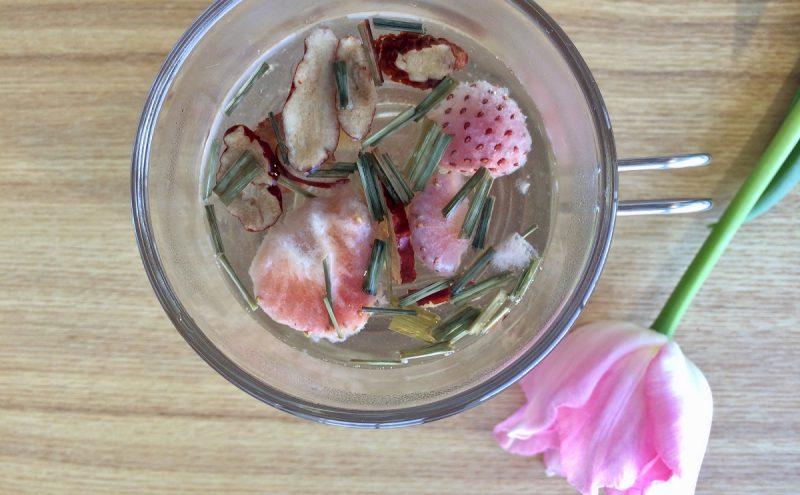 なつめ レシピ「春気分のお茶」
