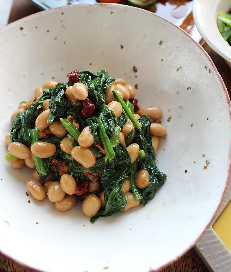 更年期メニュー なつめと大豆のサラダ