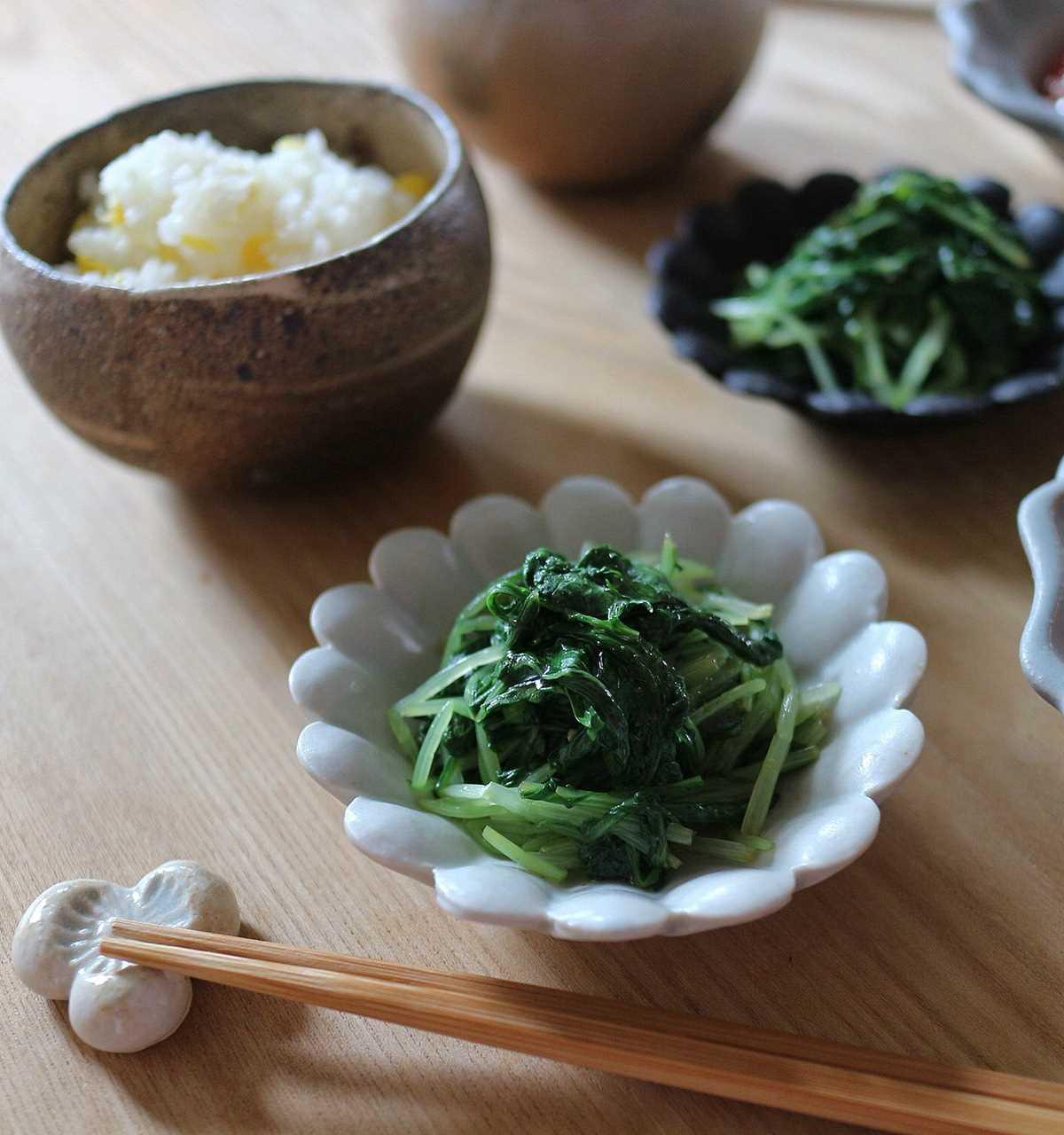 水菜と大葉のわさび和えの画像