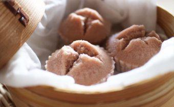なつめ レシピ「なつめいろシロップの米粉蒸しパン」