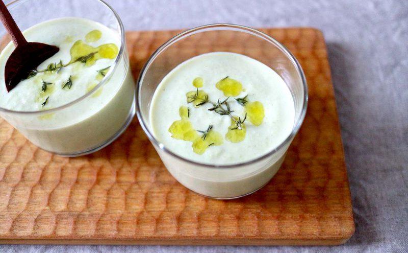なつめ レシピ「枝豆と豆乳の冷製スープ」
