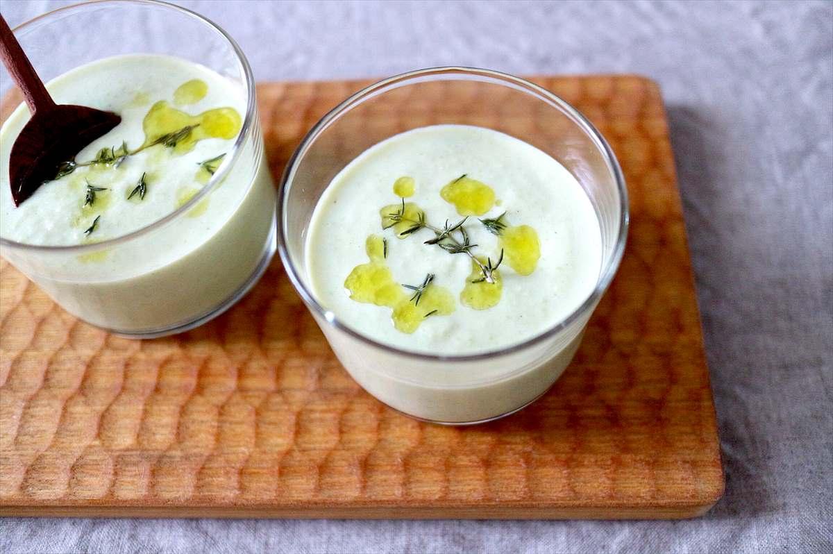 枝豆と豆乳の冷製スープのイメージ画像