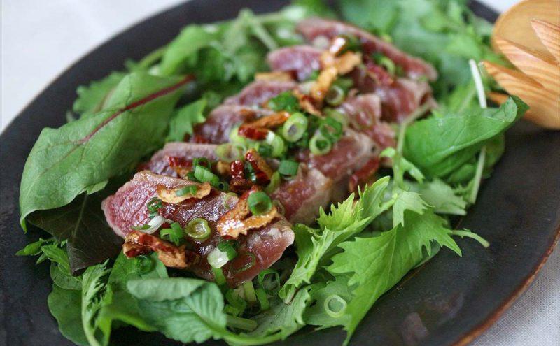 なつめ レシピ「まぐろステーキ」
