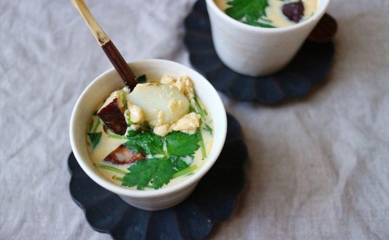 なつめ レシピ「百合根の茶碗蒸し」