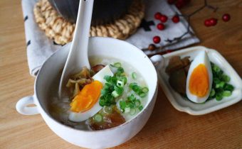 なつめ レシピ「なつめチップの中華粥」