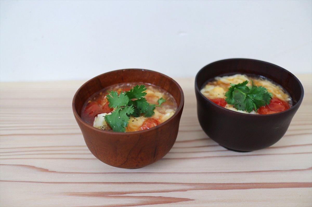 トマトと卵のアジアンスープの画像