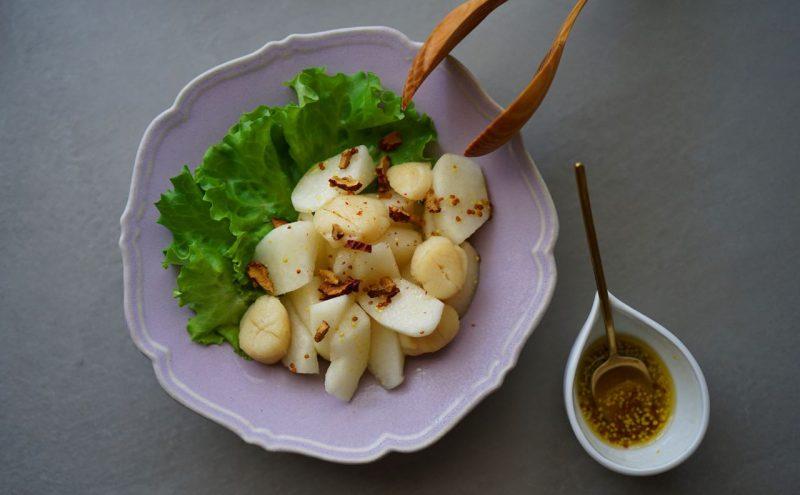 なつめ レシピ「梨とホタテのサラダ」