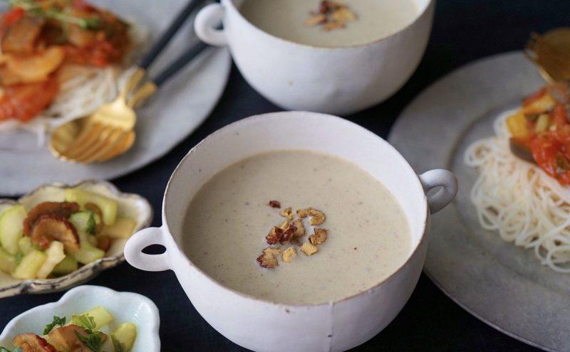 なつめ レシピ「なすの冷製スープ」