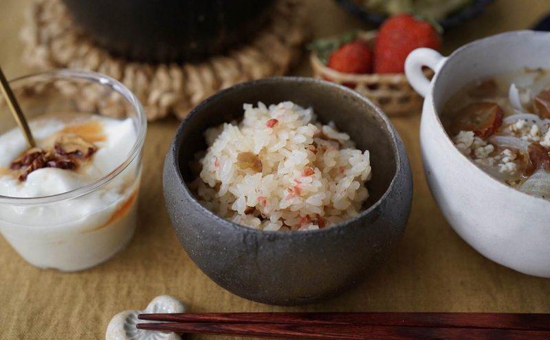 なつめ レシピ 「桜の塩漬けまぜご飯」