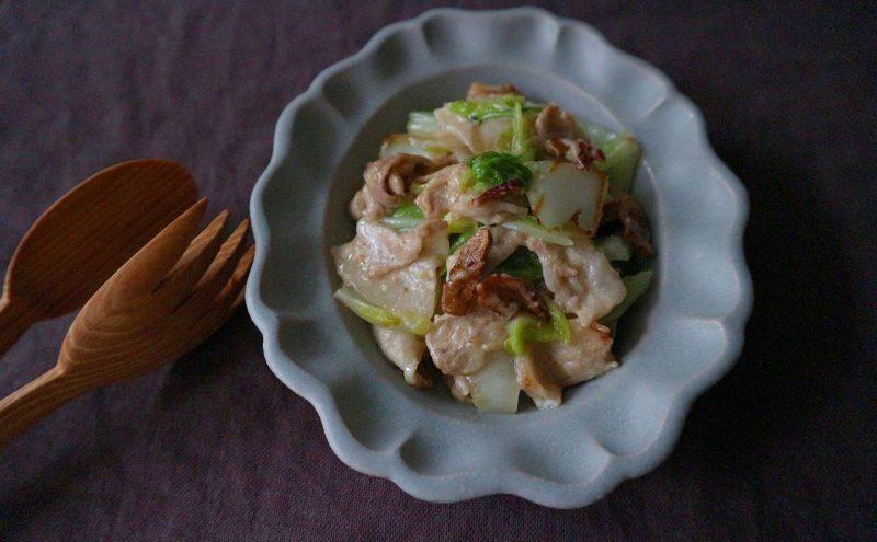 なつめ レシピ 「白菜と椎茸の豆乳クリーム煮」