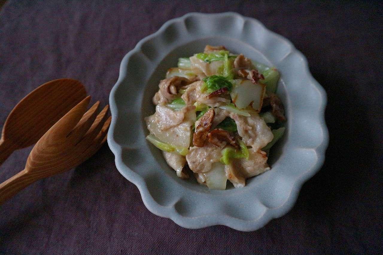 白菜と椎茸の豆乳クリーム煮の画像