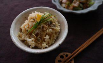 なつめ レシピ「しじみと生姜の炊き込みご飯」