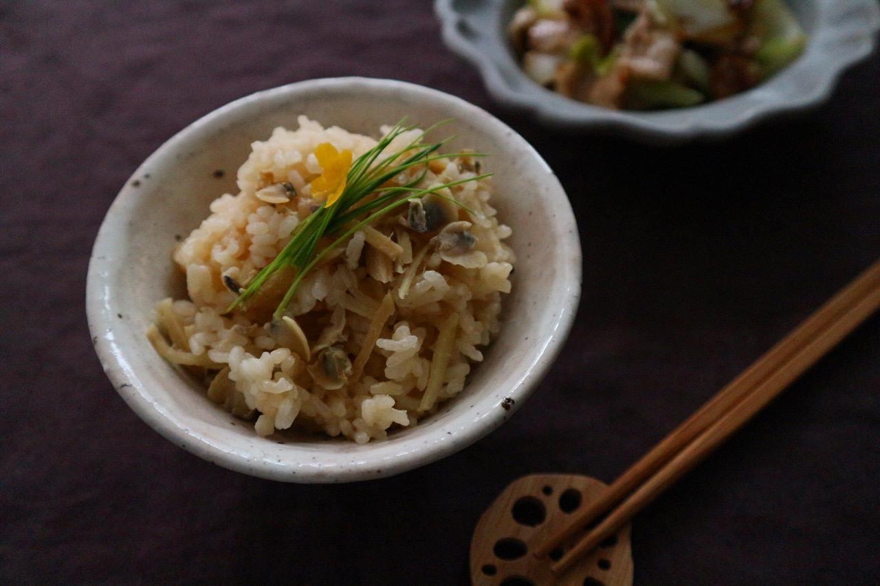しじみと生姜の炊き込みご飯の画像