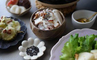 なつめ レシピ「長芋と黒米の炊き込みごはん」