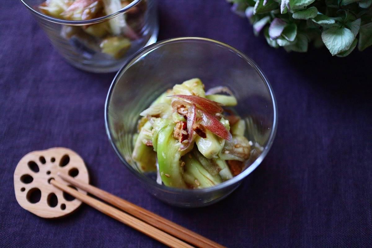 茄子と茗荷のナムルの画像