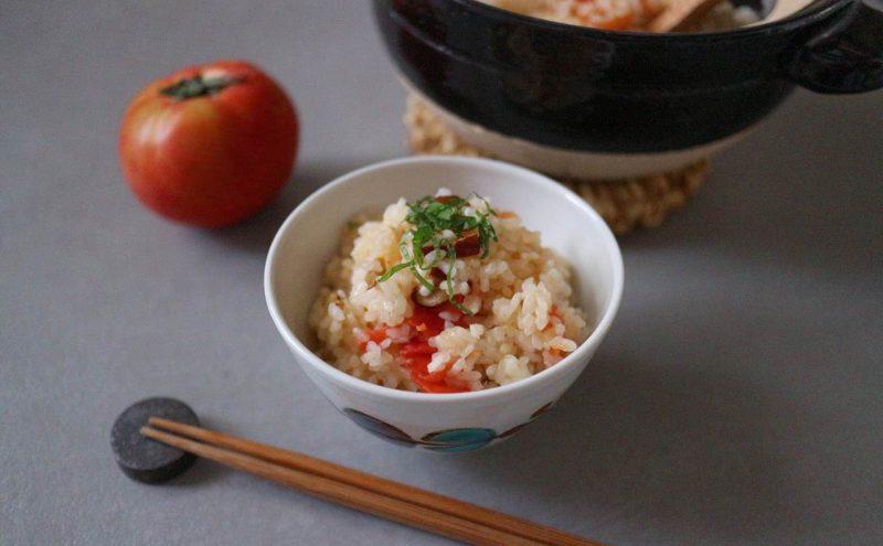 なつめ レシピ「なつめチップとトマトのご飯」
