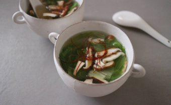 なつめ レシピ「レタスとしいたけのスープ」