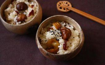 なつめ レシピ「甘栗となつめチップのご飯」