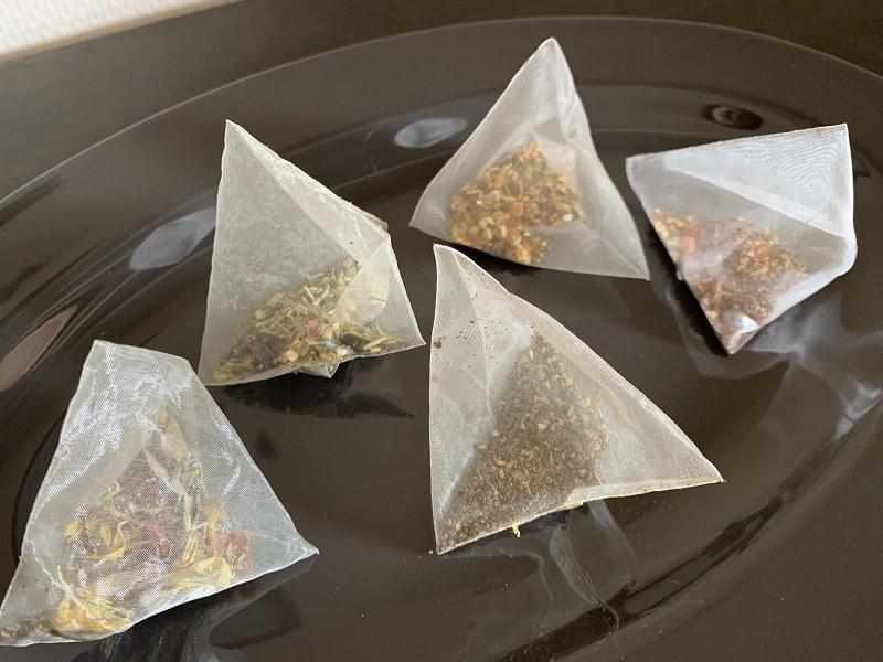 なつめいろの5つのお茶はティーパック加工