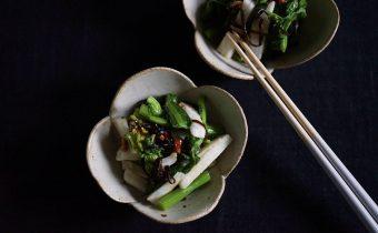 なつめ レシピ「菜の花と長芋の塩こんぶ和え」