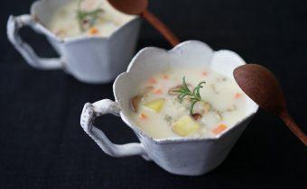 なつめ レシピ 「豆乳のクラムチャウダー」