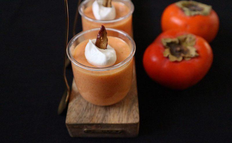 なつめ レシピ「柿のプリン風おやつ」