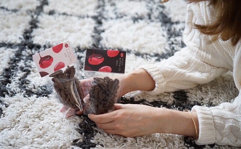 なつめチップにチョコをコーティングしたなつめのチョコシップはポリフェノールがたっぷりな美チョコ